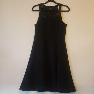Lauren by Ralph Lauren Dress Black Beaded Neck